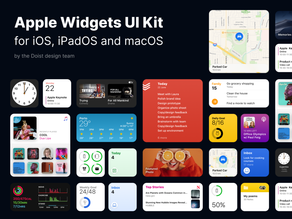 Apple Widgets UI Kit Figma