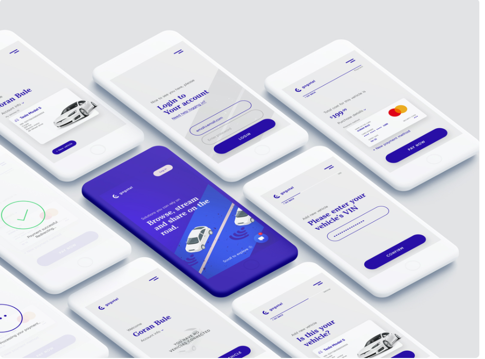 Connected car app