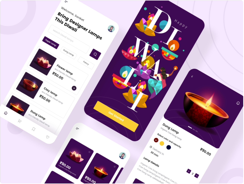 Diwali e-commerce App UI kit