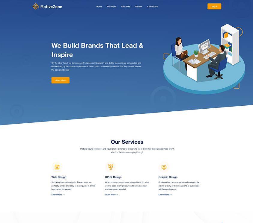 Agency Landing Page Design