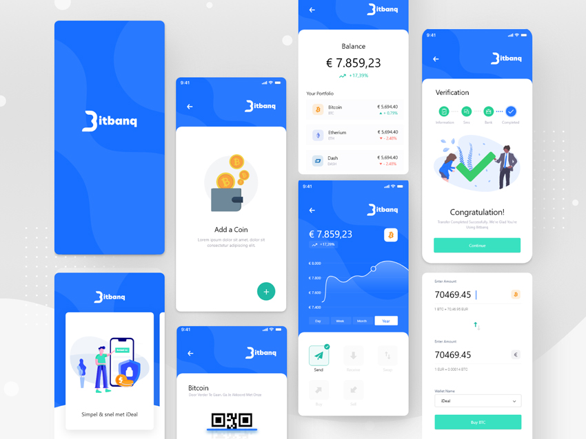 Blue Crypto e-Wallet App